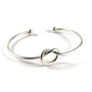 Beautiful Vintage 925 Silver Knot Cuff Bracelet
